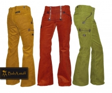 Coloured guild trousers Genua corduroy - Ladies