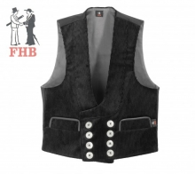 Guild vest Trenker corduroy three wire with real leather
